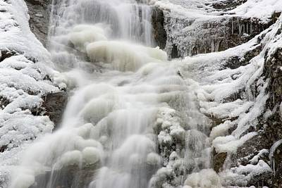 Waterfall In The Winter Poster