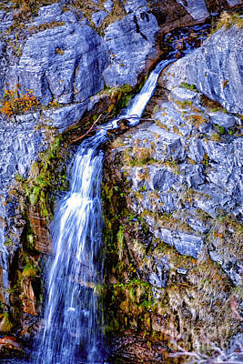 Waterfall-mt Timpanogos Poster by David Millenheft