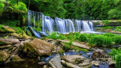 Waterfall Of Keila Poster by Mario Mesi