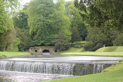 Poster featuring the photograph Waterfalls - Fountains Abbey  by David Grant