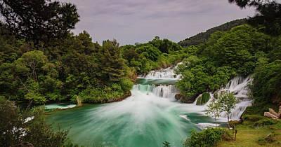 Waterfalls Poster by Wladimir Bulgar