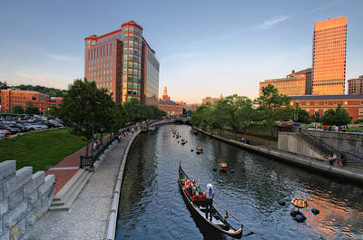 Waterfire At Dusk Poster