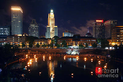 Waterfire Providence Poster