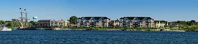 Waterfront Homes And Commercial Poster by Panoramic Images