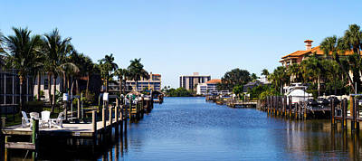 Waterfront Homes In Naples, Florida, Usa Poster by Panoramic Images