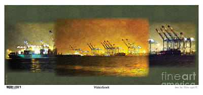 Poster featuring the digital art Waterfront by Kenneth De Tore