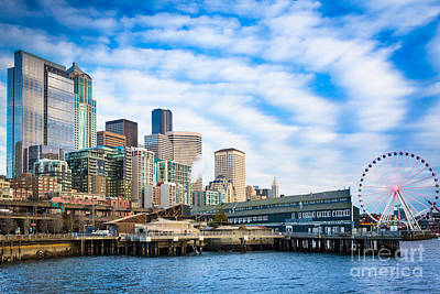 Waterfront Skyline Poster by Inge Johnsson