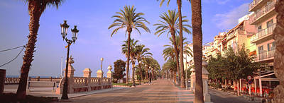 Waterfront Walkway, Sitges, Barcelona Poster by Panoramic Images