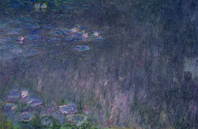 Waterlilies Reflections Of Trees, Detail From The Left Hand Side, 1915-26 Poster