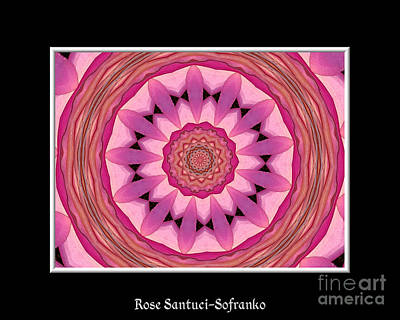 Waterlily Flower Kaleidoscope 3 Poster by Rose Santuci-Sofranko