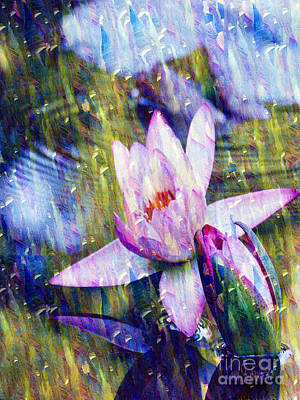 Purple Waterlily Paradise Poster