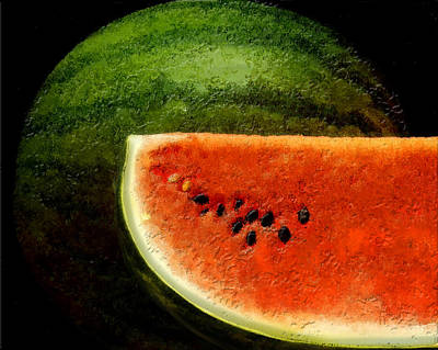 Watermelon Poster by David Blank
