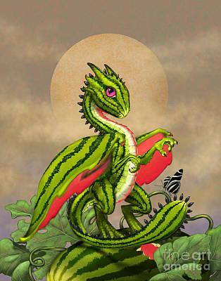 Watermelon Dragon Poster by Stanley Morrison