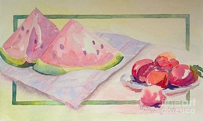 Poster featuring the painting Watermelon by Marilyn Zalatan