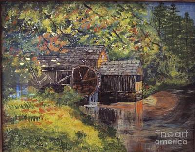 Waterwheel In Autumn Poster by Lucia Grilletto