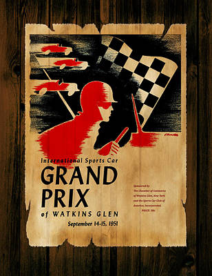 Watkins Glen Grand Prix 1951 Poster by Mark Rogan