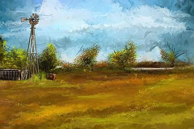 Watson Farm In Rhode Island - Old Windmill And Farming Art Poster by Lourry Legarde
