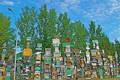 Watson Lake Sign Forest-yt Poster by Ruth Hager