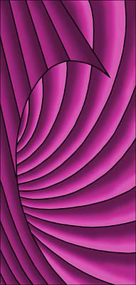 Poster featuring the digital art Wave - Fuchsia  by Judi Quelland