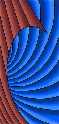 Poster featuring the digital art Wave - Red And Blue by Judi Quelland