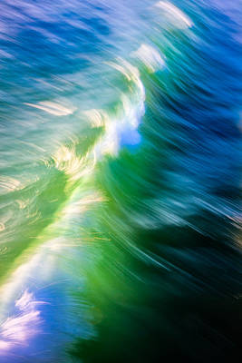 Wave Abstract Triptych 1 Poster