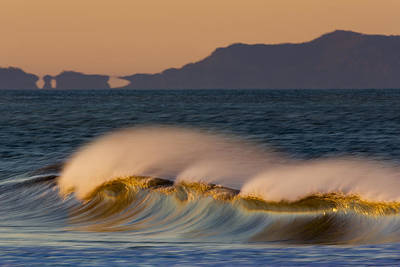 Poster featuring the photograph Wave And Island 73a5281 by David Orias