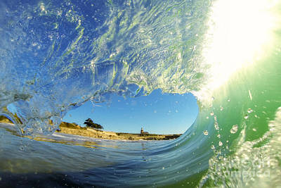 Poster featuring the photograph Wave And Lighthouse 3 by Paul Topp
