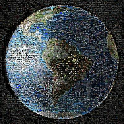Wave At Earth Mosaic Poster by Nasa/jpl-caltech