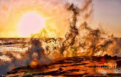 Wave Crasher La Jolla By Diana Sainz Poster
