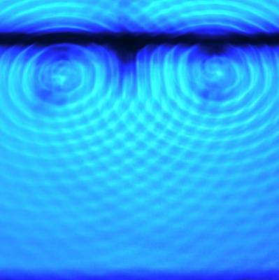 Wave Interference Poster by Science Photo Library