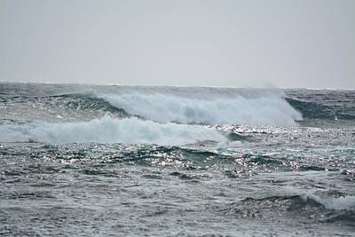 Waves At Koloa Poster