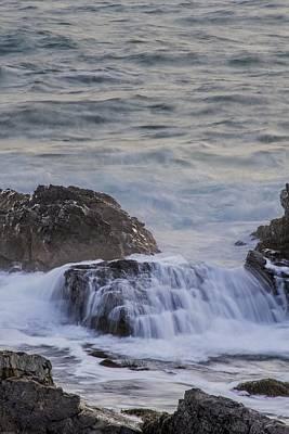 Waves Breaking Off Marginal Way Poster