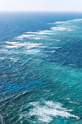 Waves Breaking On Great Barrier Reef Poster by Panoramic Images