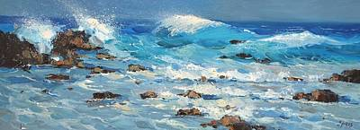 Poster featuring the painting Waves by Dmitry Spiros