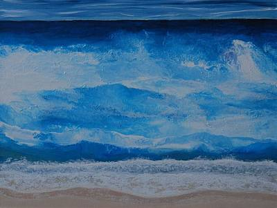 Poster featuring the painting Waves by Linda Bailey