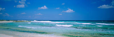 Waves On The Beach, Cancun, Quintana Poster