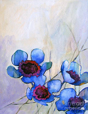 Wax Flowers Blue Poster by Wendy Westlake
