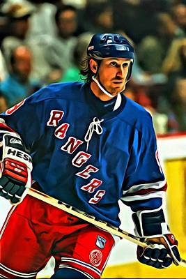 Wayne Gretzky In Action Poster