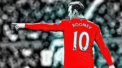 Wayne Rooney Poster Art Poster by Florian Rodarte