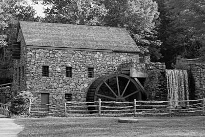 Wayside Grist Mill - Sudbury Massachusetts Poster by Suzanne Gaff