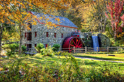Wayside Inn Grist Mill Poster by Donna Doherty