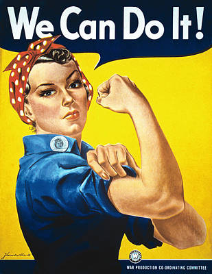 'we Can Do It' Wwii Poster Poster by J. Howard Miller