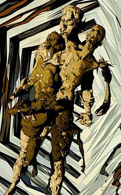 Poster featuring the digital art we by Matt Lindley
