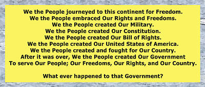 We The People 2 Poster by Bruce Iorio