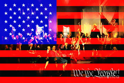 We The People 20131221 Poster by Wingsdomain Art and Photography