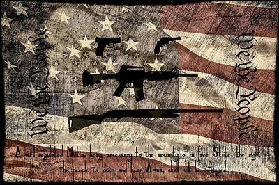 We The People Second Amendment Poster by Brian Mollenkopf