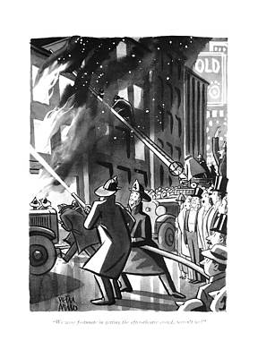 We Were Fortunate In Getting The After-theatre Poster by Peter Arno