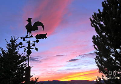 Weather Vane Sunset Poster