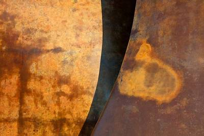 Weathered Bronze Abstract Poster