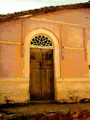Weathered Door Mexico Poster by Ann Powell